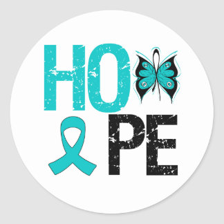 PCOS Awareness Hope Round Stickers