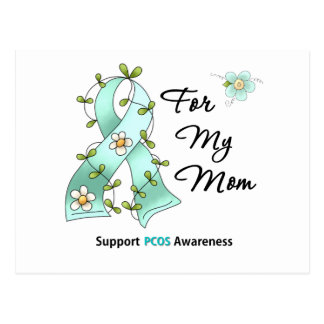 PCOS Awareness I Wear PCOS Ribbon For My Mom Postcard