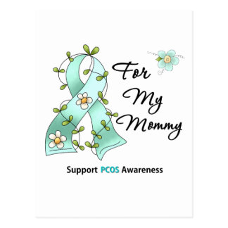 PCOS Awareness I Wear PCOS Ribbon For My Mommy Post Cards