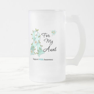 PCOS Awareness I Wear Teal Ribbon For My Aunt Coffee Mug