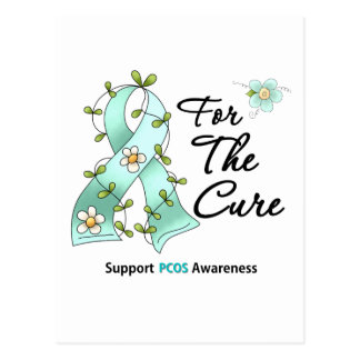 PCOS Awareness I Wear Teal Ribbon For the CURE Postcard