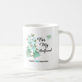 PCOS Awareness I Wear Teal Ribbon Girlfriend Coffee Mug