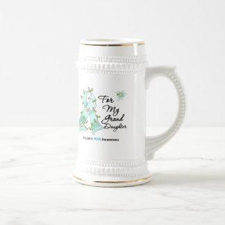 PCOS Awareness I Wear Teal Ribbon Granddaugter Coffee Mug