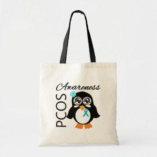 PCOS Awareness Penguin Canvas Bag
