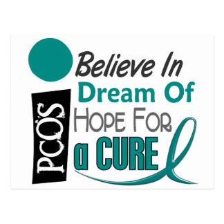 PCOS Believe Dream Hope Postcard