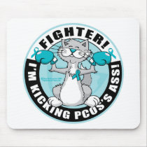 PCOS Boxing Cat Mouse Pad