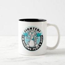 PCOS Boxing Cat Two-Tone Coffee Mug