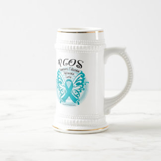 PCOS Butterfly 3 Beer Stein