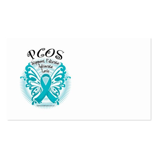 PCOS Butterfly 3 Double-Sided Standard Business Cards (Pack Of 100)