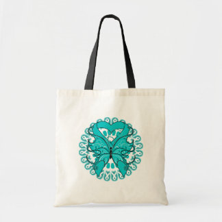 PCOS Butterfly Circle of Ribbons Budget Tote Bag