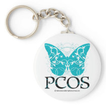 PCOS Butterfly Keychain