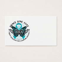 PCOS Butterfly Tribal 2 Business Card