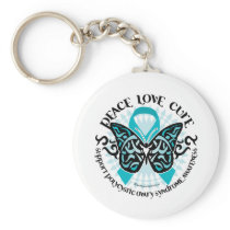 PCOS Butterfly Tribal 2 Keychain