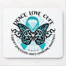 PCOS Butterfly Tribal 2 Mouse Pad