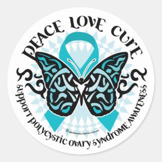 PCOS Butterfly Tribal 2 Sticker