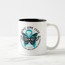 PCOS Butterfly Tribal 2 Two-Tone Coffee Mug
