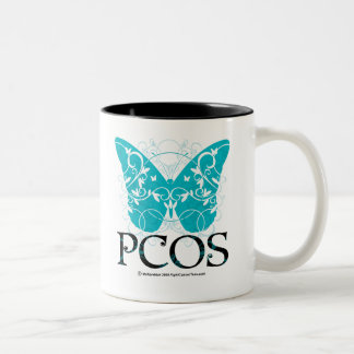 PCOS Butterfly Two-Tone Coffee Mug