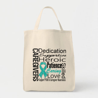 PCOS Caregivers Collage Grocery Tote Bag