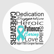 PCOS Caregivers Collage Classic Round Sticker