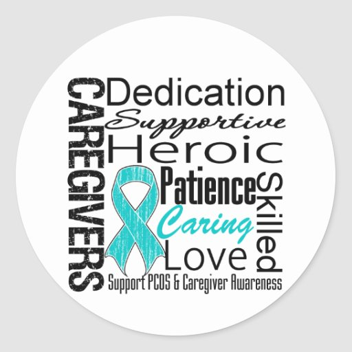 PCOS Caregivers Collage Classic Round Sticker