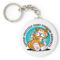 PCOS Cat Keychain