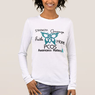 PCOS Celtic Butterfly 3 Long Sleeve T-Shirt