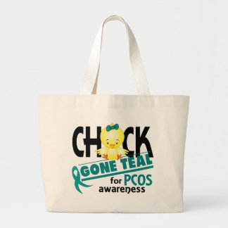 PCOS Chick Gone Teal 2 Jumbo Tote Bag
