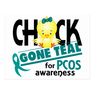 PCOS Chick Gone Teal 2 Postcard