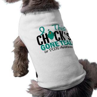 PCOS Chick Gone Teal Dog Shirt
