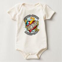 PCOS Classic Heart Baby Bodysuit