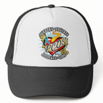 PCOS Classic Heart Trucker Hat