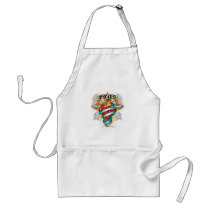PCOS Cross & Heart Adult Apron