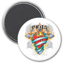 PCOS Cross & Heart Magnet