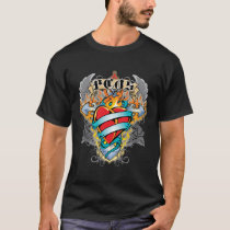 PCOS Cross & Heart T-Shirt