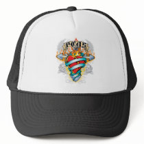 PCOS Cross & Heart Trucker Hat