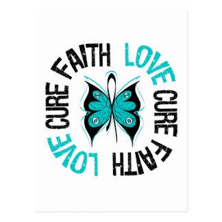 PCOS Faith Love Butterfly Postcards