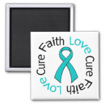 PCOS Faith Love Cure 2 Inch Square Magnet