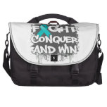 PCOS Fight Conquer and Win Laptop Messenger Bag