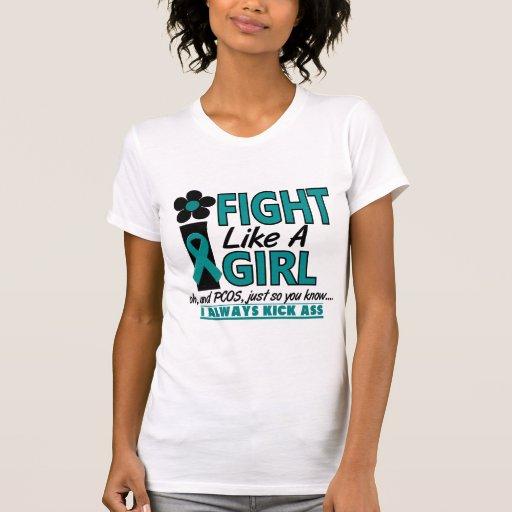 PCOS Fight Like A Girl 1.2 Tshirt