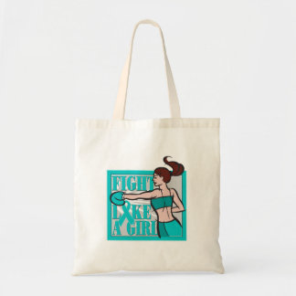 PCOS Fight Like A Girl Boxer Canvas Bags