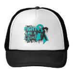 PCOS Fight Like A Girl Grunge Trucker Hat
