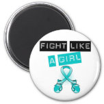 PCOS Fight Like A Girl Magnets