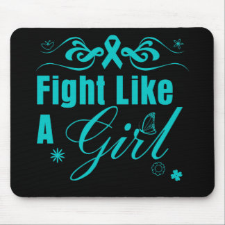 PCOS Fight Like A Girl Ornate Mouse Pad