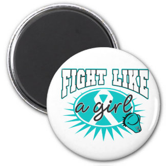 PCOS Fight Like A Girl Sporty Callout Refrigerator Magnets