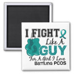 PCOS Fight Like A Guy 15 Fridge Magnets
