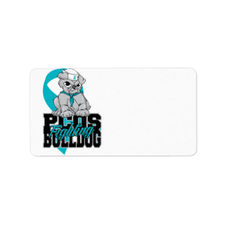 PCOS Fighting Bulldog Label