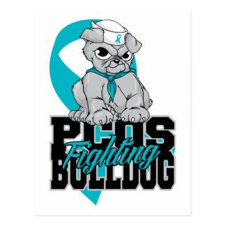 PCOS Fighting Bulldog Postcard