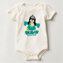 PCOS Fighting Penguin Baby Bodysuit