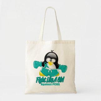 PCOS Fighting Penguin Canvas Bag