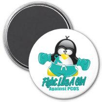PCOS Fighting Penguin Magnet